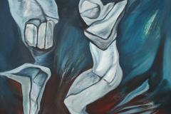 Olasz Attila A megmaradás gyönyörűsége 2017 olaj vászon 60 x 60 cm
