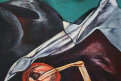 Olasz Attila A régészet allegóriája 2017 olaj vászon 80 x 80 cm k