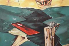 Olasz Attila Fölötte 2017 olaj vászon 60 x 60 cm