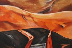 Olasz Attila Megtévesztő irányok 2017 olaj vászon 60  x 60 cm