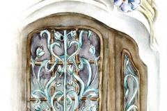 A Reök-palota bejárati kapujának részlete