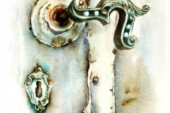 A Szent Rozália-kápolna ajtókilincse